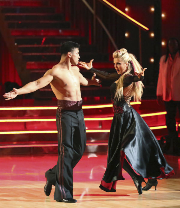 "<div class=""meta image-caption""><div class=""origin-logo origin-image ""><span></span></div><span class=""caption-text"">Boxer Victor Ortiz and his partner Lindsay Arnold received 18 out of 30 points from the judges for their Paso Doble during week 4 of season 16 of 'Dancing With The Stars,' which aired on April 8, 2013. (ABC Photo / Adam Taylor)</span></div>"