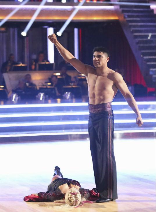 "<div class=""meta ""><span class=""caption-text "">Boxer Victor Ortiz and his partner Lindsay Arnold received 18 out of 30 points from the judges for their Paso Doble during week 4 of season 16 of 'Dancing With The Stars,' which aired on April 8, 2013. (ABC Photo / Adam Taylor)</span></div>"