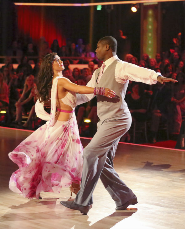 "<div class=""meta ""><span class=""caption-text "">NFL star Jacoby Jones and his partner Karina Smirnoff received 24 out of 30 points from the judges for their Foxtrot during week 4 of season 16 of 'Dancing With The Stars,' which aired on April 8, 2013. (ABC Photo / Adam Taylor)</span></div>"
