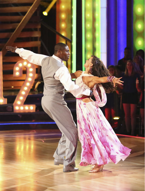 NFL star Jacoby Jones and his partner Karina Smirnoff received 24 out of 30 points from the judges for their Foxtrot during week 4 of season 16 of &#39;Dancing With The Stars,&#39; which aired on April 8, 2013. <span class=meta>(ABC Photo &#47; Adam Taylor)</span>