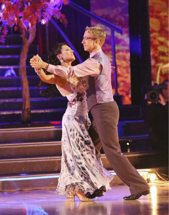 Actor and comedian Andy Dick and his partner Sharna Burgess received 21 out of 30 points from the judges for their Viennese Waltz during week 4 of season 16 of &#39;Dancing With The Stars,&#39; which aired on April 8, 2013. Dick dedicated his dance to his 15-year-old daughter and judge Carrie Ann Inaba, who lost her father in March, was moved to tears by the performance. <span class=meta>(ABC Photo &#47; Adam Taylor)</span>