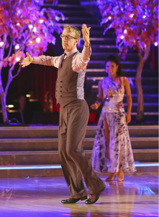 "<div class=""meta ""><span class=""caption-text "">Actor and comedian Andy Dick and his partner Sharna Burgess received 21 out of 30 points from the judges for their Viennese Waltz during week 4 of season 16 of 'Dancing With The Stars,' which aired on April 8, 2013. Dick dedicated his dance to his 15-year-old daughter and judge Carrie Ann Inaba, who lost her father in March, was moved to tears by the performance. (ABC Photo / Adam Taylor)</span></div>"