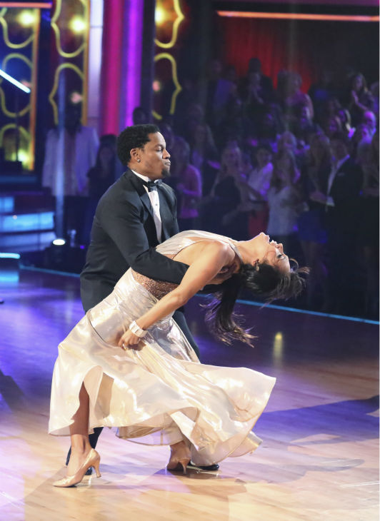 Actor and comedian D.L. Hughley and his partner Cheryl Burke received 21 out of 30 points from the judges for their Foxtrot during week 4 of season 16 of &#39;Dancing With The Stars,&#39; which aired on April 8, 2013. <span class=meta>(Photo&#47;Adam Taylor)</span>