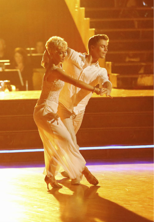 Kellie Pickler and partner Derek Hough received 26 out of 30 points from the judges for their Rumba during week 4 of season 16 of &#39;Dancing With The Stars,&#39; which aired on April 8, 2013. <span class=meta>(ABC Photo &#47; Adam Taylor)</span>