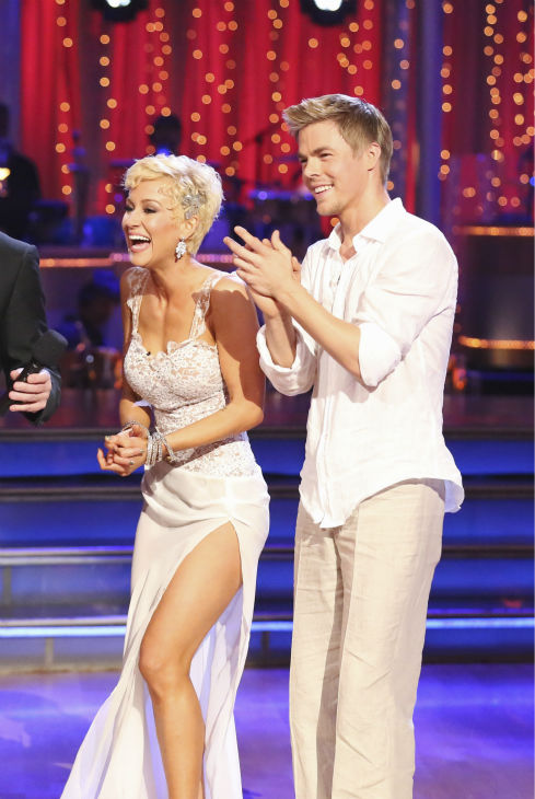 Kellie Pickler and partner Derek Hough received 26 out of 30 points from the judges for their Rumba during week 4 of season 16 of &#39;Dancing With The Stars,&#39; which aired on April 8, 2013. <span class=meta>(ABC Photo&#47; Adam Taylor)</span>