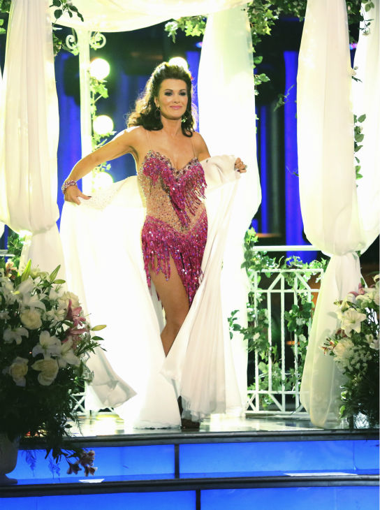 "<div class=""meta ""><span class=""caption-text "">Lisa Vanderpump and partner Gleb Savchenko received 18 out of 30 points from the judges for their Cha Cha Cha on week 4 of season 16 of 'Dancing With The Stars,' which aired on April 8, 2013. The 'Real Housewives of Beverly Hills' star had fainted during a recent rehearsal and did not show up during the first part of the episode. (ABC Photo/ Adam Taylor)</span></div>"