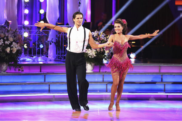 "<div class=""meta image-caption""><div class=""origin-logo origin-image ""><span></span></div><span class=""caption-text"">Lisa Vanderpump and partner Gleb Savchenko received 18 out of 30 points from the judges for their Cha Cha Cha on week 4 of season 16 of 'Dancing With The Stars,' which aired on April 8, 2013. The 'Real Housewives of Beverly Hills' star had fainted during a recent rehearsal and did not show up during the first part of the episode. (ABC Photo/ Adam Taylor)</span></div>"
