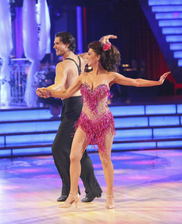Lisa Vanderpump and partner Gleb Savchenko received 18 out of 30 points from the judges for their Cha Cha Cha on week 4 of season 16 of &#39;Dancing With The Stars,&#39; which aired on April 8, 2013. The &#39;Real Housewives of Beverly Hills&#39; star had fainted during a recent rehearsal and did not show up during the first part of the episode. <span class=meta>(ABC Photo &#47; Adam Taylor)</span>
