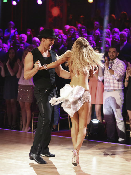 Actor Ingo Rademacher and regular partner Kym Johnson dance the Cha Cha Cha alongside pro dancers Tony Dovolani and Emma Slater on week five of &#39;Dancing With The Stars&#39; on April 15, 2013. They received 21 out of 30 points from the judges. <span class=meta>(ABC Photo &#47; Adam Taylor)</span>