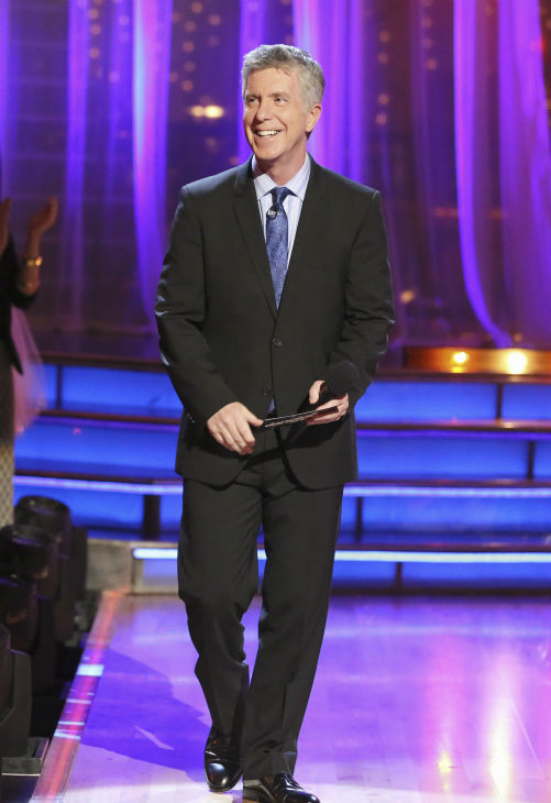 Tom Bergeron, co-host of 'Dancing With The Stars,' appears on week five of the ABC show on April 15, 2013.