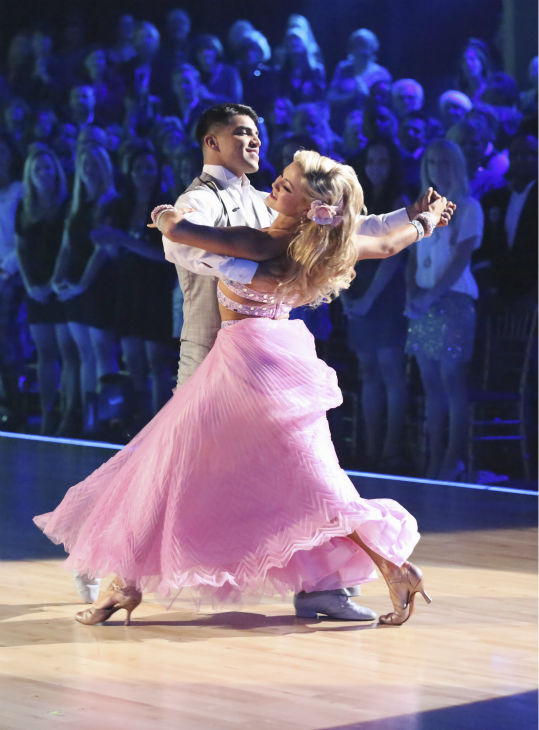 "<div class=""meta ""><span class=""caption-text "">Boxer Victor Ortiz and his partner Lindsay Arnold received 21 out of 30 points from the judges for their Viennese Waltz during week five of 'Dancing With The Stars,' which aired on April 15, 2013. (ABC Photo / Adam Taylor)</span></div>"