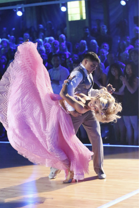 Boxer Victor Ortiz and his partner Lindsay Arnold received 21 out of 30 points from the judges for their Viennese Waltz during week five of &#39;Dancing With The Stars,&#39; which aired on April 15, 2013. <span class=meta>(ABC Photo&#47; Adam Taylor)</span>