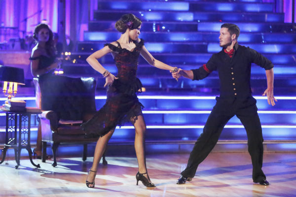 &#39;Shake It Up&#39; actress Zendaya Coleman and regular partner Val Chmerkovskiy dance the Argentine Tango alongside pro dancers Maksim Chmerkovskiy and Anna Trebunskaya on week five of &#39;Dancing With The Stars&#39; on April 15, 2013. They received 29 out of 30 points from the judges.  <span class=meta>(ABC Photo &#47; Adam Taylor)</span>