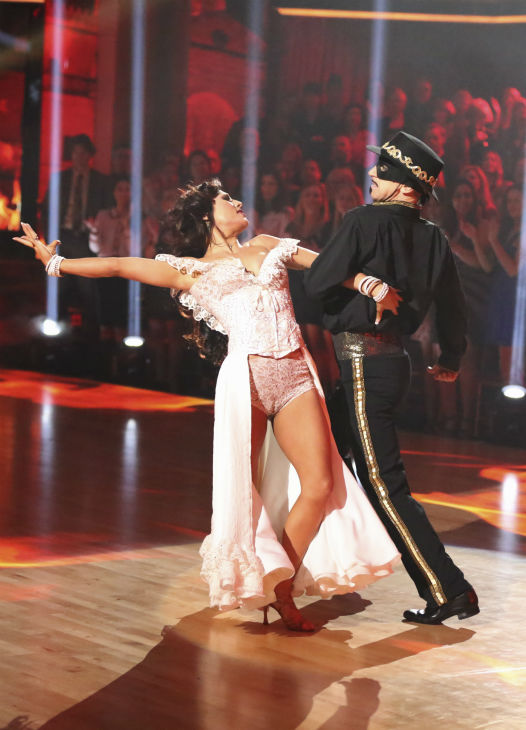 "<div class=""meta ""><span class=""caption-text "">Actor and comedian Andy Dick and his partner Sharna Burgess received 18 out of 30 points from the judges for their Paso Doble during week five of 'Dancing With The Stars,' which aired on April 15, 2013. (ABC Photo / Adam Taylor)</span></div>"