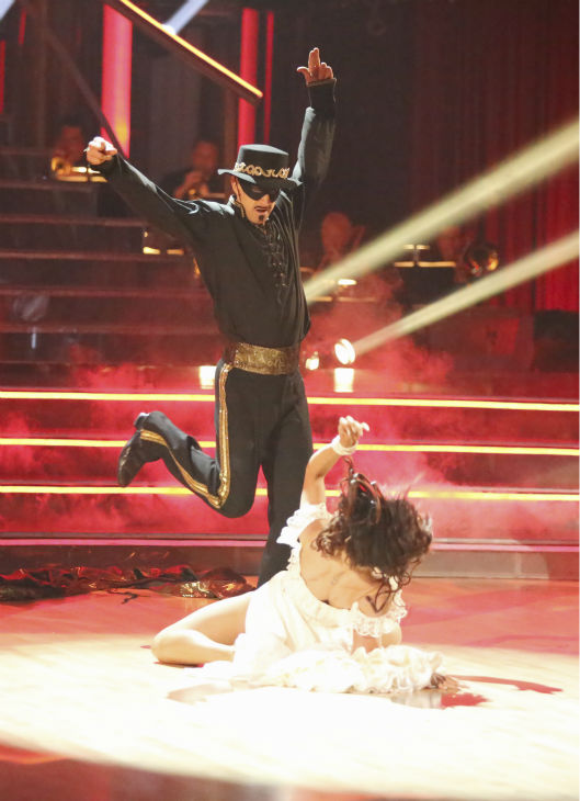 Actor and comedian Andy Dick and his partner Sharna Burgess received 18 out of 30 points from the judges for their Paso Doble during week five of &#39;Dancing With The Stars,&#39; which aired on April 15, 2013. <span class=meta>(ABC Photo &#47; Adam Taylor)</span>