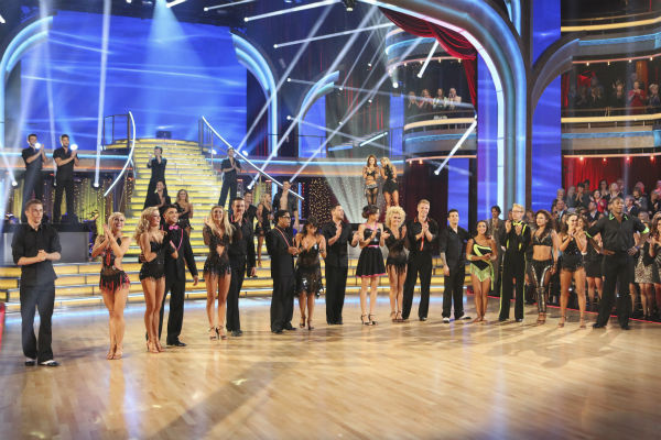 The cast of 'Dancing With The Stars' appears on week five of the ABC show on April 15, 2013.