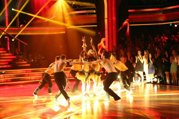 The Pros perform a Latin-inspired ensemble dance on &#39;Dancing With The Stars: The Results Show&#39; on April 23, 2013. <span class=meta>(ABC Photo &#47; Adam Taylor)</span>