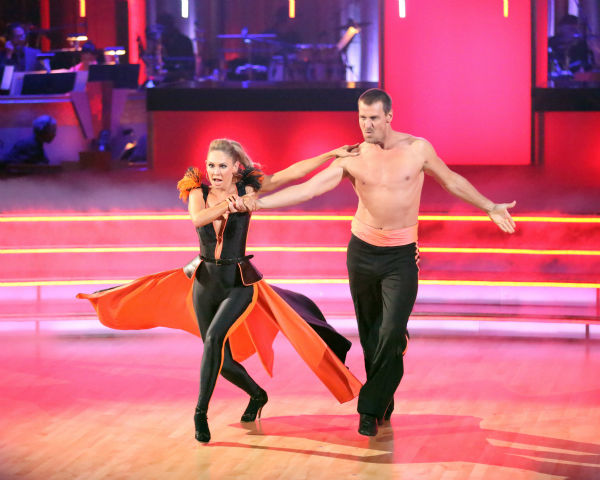 Ingo Rademacher and Kym Johnson perform an encore of the team Paso Doble dance on week six of &#39;Dancing With The Stars,&#39; which aired on April 23, 2013. <span class=meta>(ABC Photo&#47; Adam Taylor)</span>