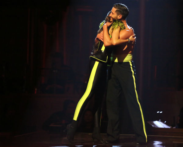 "<div class=""meta image-caption""><div class=""origin-logo origin-image ""><span></span></div><span class=""caption-text"">Zendaya and Val Chmerkovskiy react to being safe on 'Dancing With The Stars: The Results Show' on April 23, 2013. The pair received 29 out of 30 points from the judges for their Cha Cha Cha on week 6 of 'Dancing With The Stars,' which aired on April 22, 2013. (ABC Photo / Adam Taylor)</span></div>"