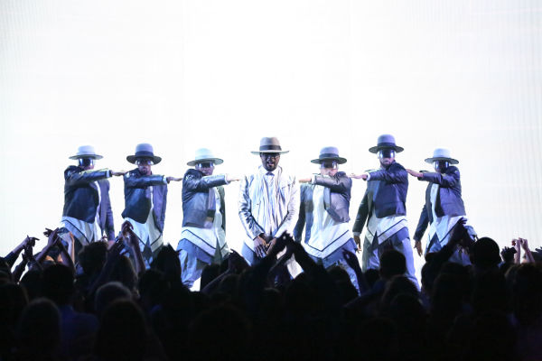 Seven-time Grammy Award winner will.i.am performs his current single, '#thatpower,' on 'Dancing with the Stars: The Results Show' on April 23, 2013.