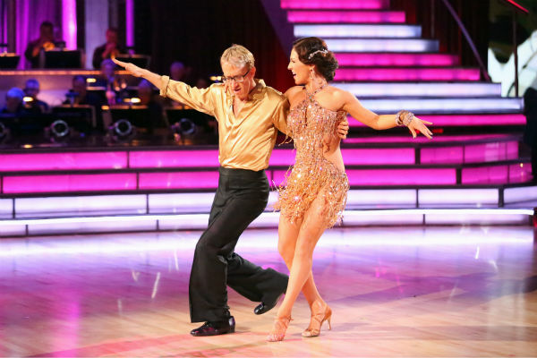 "<div class=""meta ""><span class=""caption-text "">Andy Dick, Aly Raisman and their partners compete in a Cha Cha Cha dance-off to earn three extra points from the judges on week seven of 'Dancing With The Stars' on April 29, 2013. (ABC Photo / Adam Taylor)</span></div>"