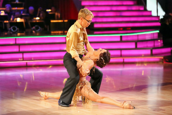 Andy Dick, Aly Raisman and their partners compete in a Cha Cha Cha dance-off to earn three extra points from the judges on week seven of &#39;Dancing With The Stars&#39; on April 29, 2013. <span class=meta>(ABC Photo &#47; Adam Taylor)</span>