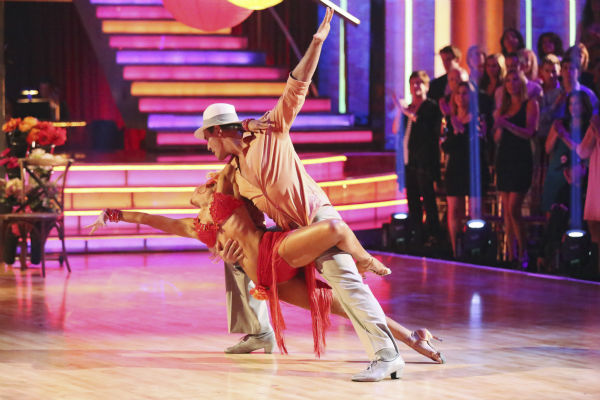 "<div class=""meta ""><span class=""caption-text "">Actor Ingo Rademacher and partner Kym Johnson dance the Rumba on week seven of 'Dancing With The Stars' on April 29, 2013. They received 22 out of 30 points from the judges. (ABC Photo / Adam Taylor)</span></div>"