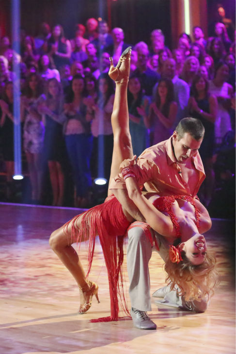 Actor Ingo Rademacher and partner Kym Johnson dance the Rumba on week seven of &#39;Dancing With The Stars&#39; on April 29, 2013. They received 22 out of 30 points from the judges. <span class=meta>(ABC Photo &#47; Adam Taylor)</span>