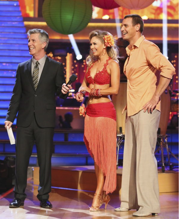 "<div class=""meta ""><span class=""caption-text "">Actor Ingo Rademacher and partner Kym Johnson danced the Rumba on week seven of 'Dancing With The Stars' on April 29, 2013. They received 22 out of 30 points from the judges. (ABC Photo / Adam Taylor)</span></div>"