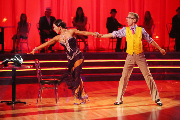 Actor and comedian Andy Dick and his partner Sharna Burgess dance the Rumba on week seven of &#39;Dancing With The Stars&#39; on April 29, 2013. They received 17 out of 30 points from the judges. <span class=meta>(ABC Photo &#47; Adam Taylor)</span>