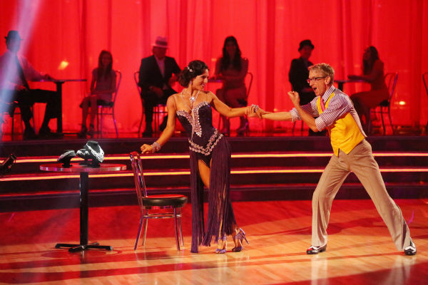 "<div class=""meta image-caption""><div class=""origin-logo origin-image ""><span></span></div><span class=""caption-text"">Actor and comedian Andy Dick and his partner Sharna Burgess dance the Rumba on week seven of 'Dancing With The Stars' on April 29, 2013. They received 17 out of 30 points from the judges. (ABC Photo / Adam Taylor)</span></div>"
