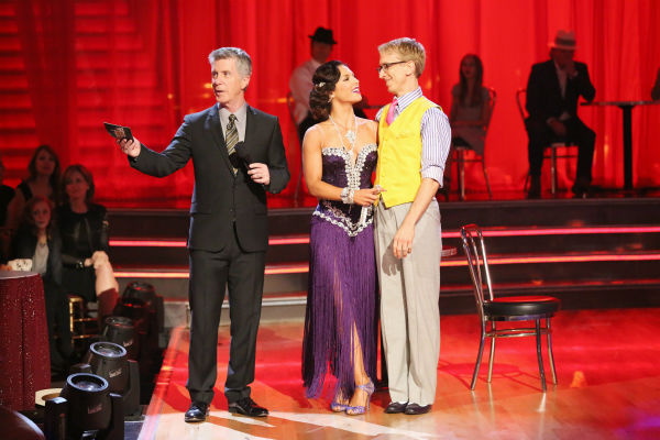 Actor and comedian Andy Dick and his partner Sharna Burgess danced the Rumba on week seven of 'Dancing With The Stars' on April 29, 2013. They received 17 out of 30 points from the judges.