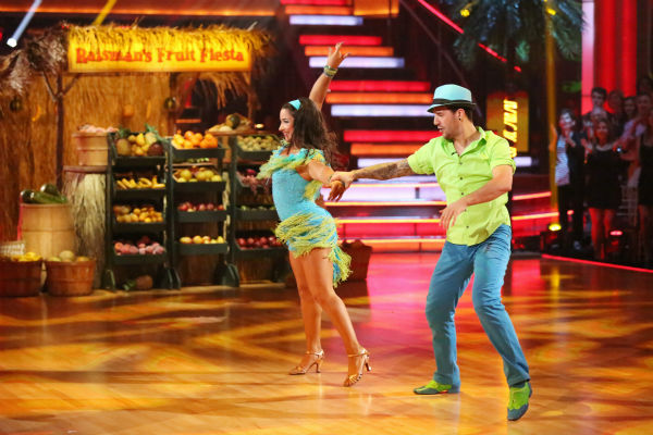 "<div class=""meta ""><span class=""caption-text "">Olympic gymnast Aly Raisman and her partner Mark Ballas dance the Salsa on week seven of 'Dancing With The Stars' on April 29, 2013. They received 29 out of 30 points from the judges. (ABC Photo / Adam Taylor)</span></div>"
