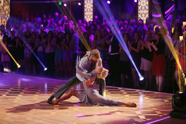 "<div class=""meta ""><span class=""caption-text "">Former 'Bachelor' star Sean Lowe and his partner Peta Murgatroyd dance the Rumba on week 7 of 'Dancing With The Stars' on April 29, 2013. They received 24 out of 30 points. (ABC Photo / Adam Taylor)</span></div>"