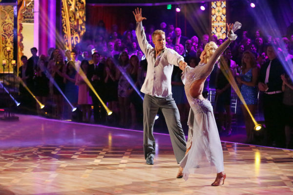 Former &#39;Bachelor&#39; star Sean Lowe and his partner Peta Murgatroyd dance the Rumba on week 7 of &#39;Dancing With The Stars&#39; on April 29, 2013. They received 24 out of 30 points. <span class=meta>(ABC Photo &#47; Adam Taylor)</span>