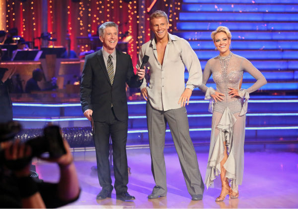 "<div class=""meta ""><span class=""caption-text "">Former 'Bachelor' star Sean Lowe and his partner Peta Murgatroyd received 24 out of 30 points from the judges for their Rumba during week seven of 'Dancing With The Stars,' which aired on April 29, 2013. (ABC Photo / Adam Taylor)</span></div>"