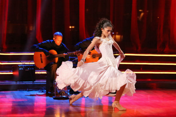"<div class=""meta ""><span class=""caption-text "">DANCING WITH THE STARS - ""Episode 1607"" - It was Latin Night on ""Dancing with the Stars,"" as seven remaining couples took to the ballroom floor and performed to a Latin-inspired hit, MONDAY, APRIL 29 (8:00-10:01 p.m., ET), on ABC.  (ABC/Adam Taylor) ZENDAYA (ABC Photo/ Adam Taylor)</span></div>"
