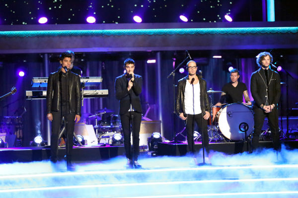 The Wanted sings on 'Dancing With The Stars: The Results Show' on May 14, 2013.