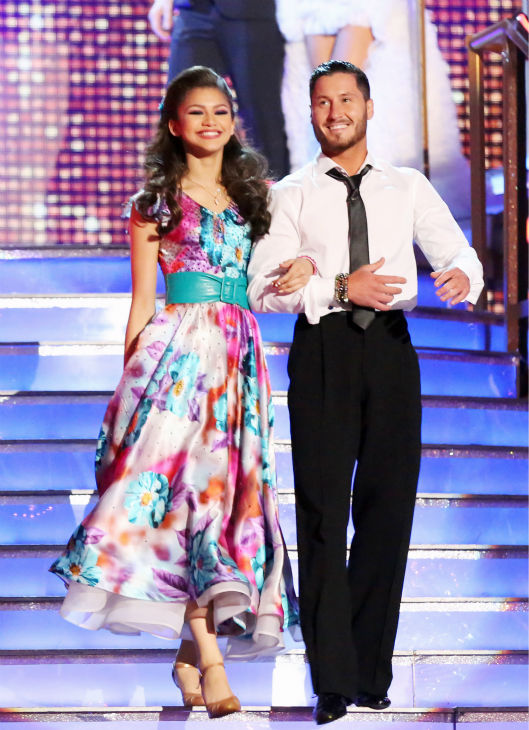 "<div class=""meta ""><span class=""caption-text "">'Shake It Up' actress Zendaya and partner Val Chmerkovskiy appear on week eight of 'Dancing With The Stars' on May 6, 2013. (ABC Photo / Adam Taylor)</span></div>"