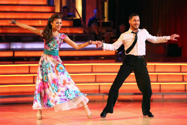 "<div class=""meta image-caption""><div class=""origin-logo origin-image ""><span></span></div><span class=""caption-text"">'Shake It Up' actress Zendaya and partner Val Chmerkovskiy dance the Foxtrot on week eight of 'Dancing With The Stars' on May 6, 2013. They received 28 out of 30 points from the judges. (ABC Photo / Adam Taylor)</span></div>"