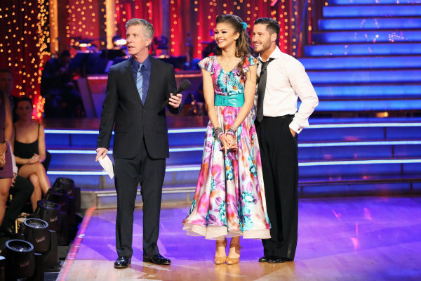 "<div class=""meta ""><span class=""caption-text "">'Shake It Up' actress Zendaya and partner Val Chmerkovskiy danced the Foxtrot on week eight of 'Dancing With The Stars' on May 6, 2013. They received 28 out of 30 points from the judges. (ABC Photo / Adam Taylor)</span></div>"