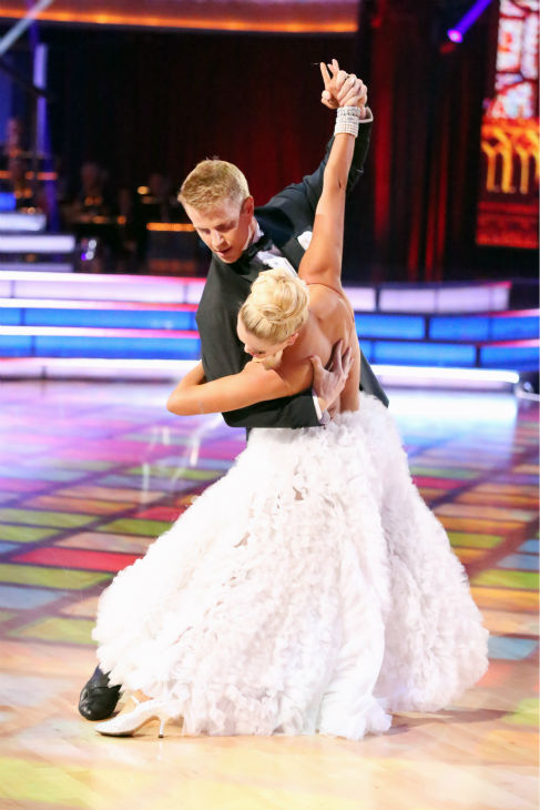 "<div class=""meta ""><span class=""caption-text "">Former 'Bachelor' star Sean Lowe and his partner Peta Murgatroyd dance the Tango on week eight of 'Dancing With The Stars' on May 6, 2013. They received 21 out of 30 points. (ABC Photo / Adam Taylor)</span></div>"