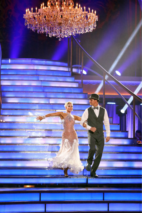 Actor Ingo Rademacher and partner Kym Johnson dance the Foxtrot on week eight of &#39;Dancing With The Stars&#39; on May 6, 2013. They received 24 out of 30 points from the judges. <span class=meta>(ABC Photo &#47; Adam Taylor)</span>