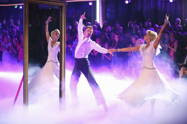 "<div class=""meta ""><span class=""caption-text "">Kellie Pickler and partner Derek Hough dance the Viennese Waltz on week eight of 'Dancing With The Stars' on May 6, 2013. They received 28 out of 30 points from the judges. (ABC Photo / Adam Taylor)</span></div>"