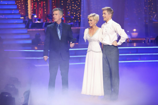 Kellie Pickler and partner Derek Hough received 28 out of 30 points from the judges for their Viennese Waltz during week eight of &#39;Dancing With The Stars,&#39; which aired on May 6, 2013. <span class=meta>(Photo &#47; Adam Taylor)</span>