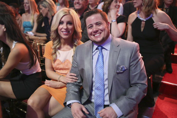 Chaz Bono, a former &#39;Dancing With The Stars&#39; contestant and son of singer Cher, appears in the audience on week eight of the ABC show on May 6, 2013. <span class=meta>(ABC Photo &#47; Adam Taylor)</span>
