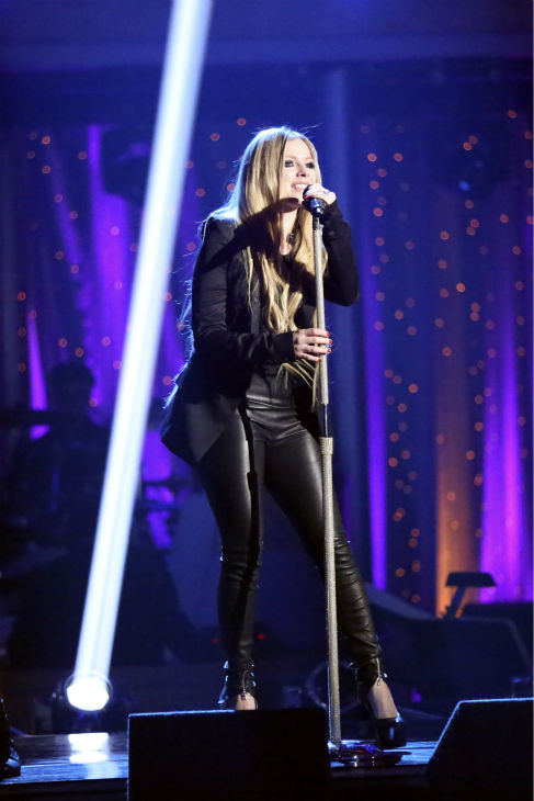 Avril Lavigne performs her  song &#39;Here&#39;s To Never Growing Up&#39; on &#39;Dancing With The Stars: The Results Show&#39; on May 14, 2013. <span class=meta>(ABC Photo &#47; Adam Taylor)</span>