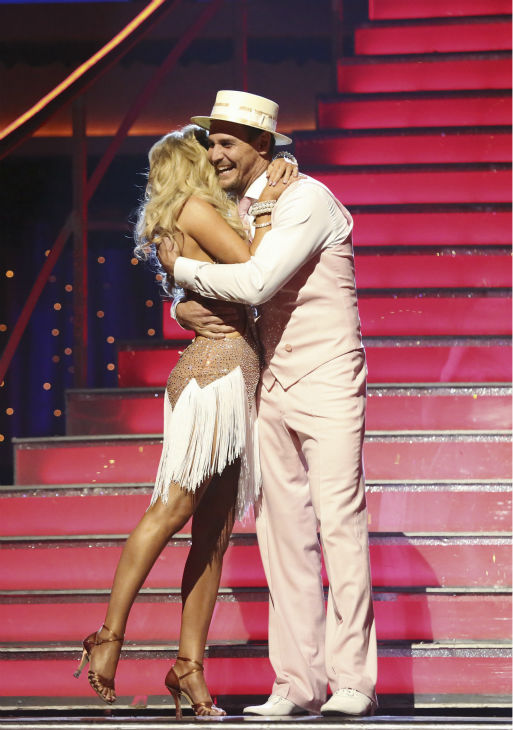 'General Hospital' actor Ingo Rademacher and Kym Johnson react to being eliminated on 'Dancing With The Stars: The Results Show' on May 14, 2013.