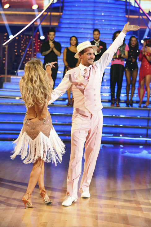&#39;General Hospital&#39; actor Ingo Rademacher and Kym Johnson react to being eliminated on &#39;Dancing With The Stars: The Results Show&#39; on May 14, 2013. The pair received 27 out of 30 points from the judges for their Charleston routine on week 9 of &#39;Dancing With The Stars,&#39; which aired on May 13, 2013. They also received 24 out of 30 points for their Samba, which brought their week&#39;s total to 51 out of 60. <span class=meta>(ABC Photo &#47; Adam Taylor)</span>