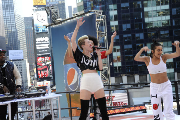 Miley Cyrus performs live on ABC's 'Good Morning America' on June 26, 2013.
